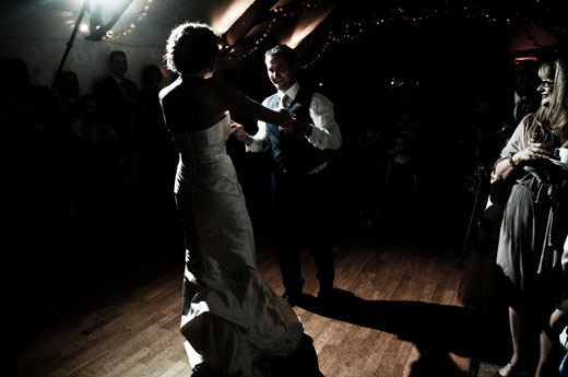Dancing at Tiverton Wedding