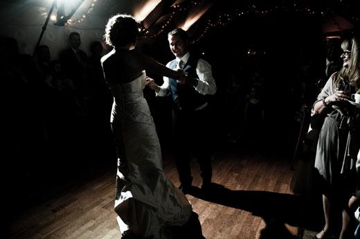 Dancing at Tiverton Wedding