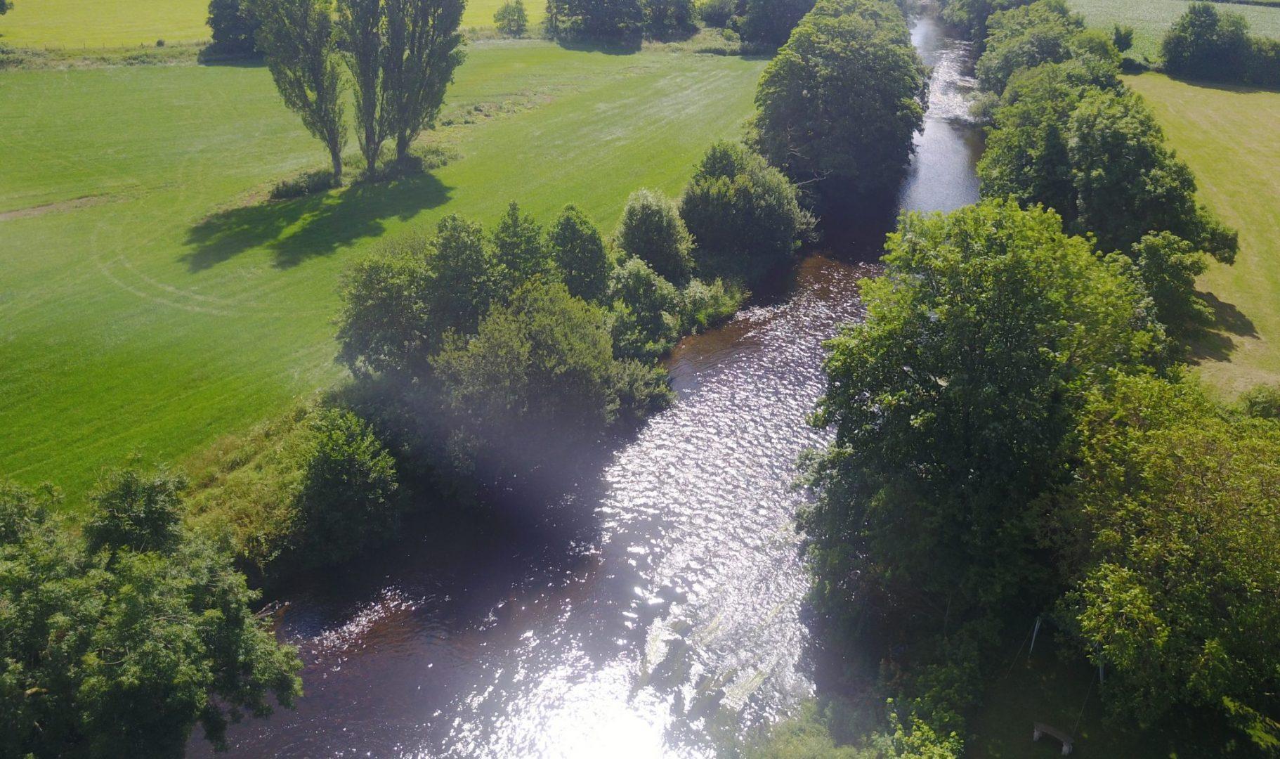 River flowing next to wedding venue