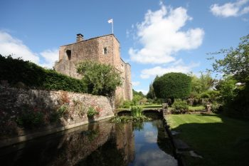 Picture of Bickleigh Castle with River at the side
