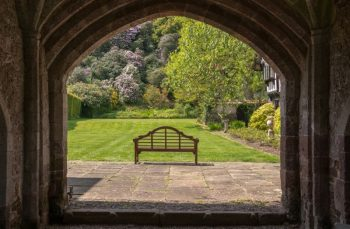 Photo of Bench taken under Castle Archway