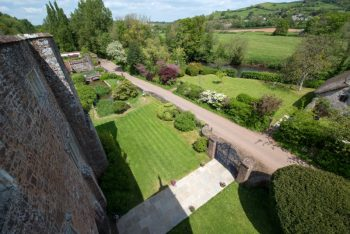 View from Roof of Bickleigh Castle Grounds
