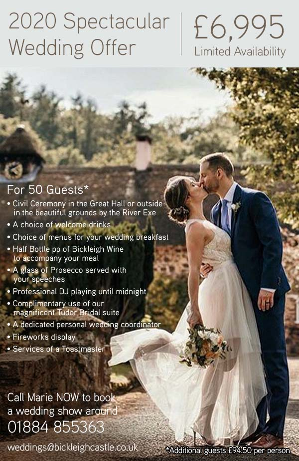 Wedding Packages - Bickleigh Castle